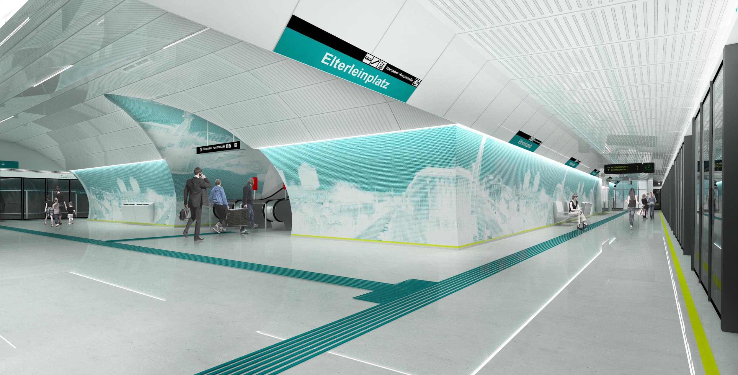Stationsdesign U5 Caramel Architektur